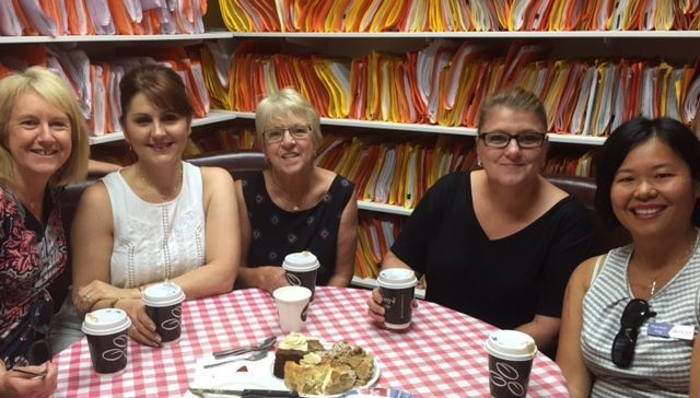 With the ladies at Allstate Conveyancing - Sally, Phyllis, June, Mandy & I