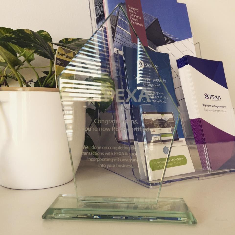 PEXA Certified Trophy