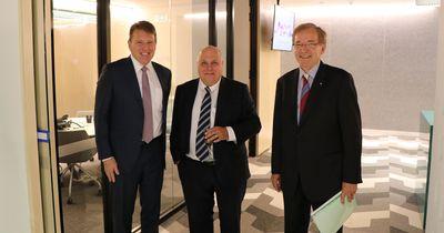 CEO, Marcus Price, Victorian Treasurer, Tim Pallas & Chairman, Alan Cameron