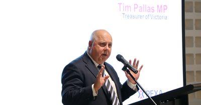 Victorian Treasurer, Tim Pallas officially opening the PEXAPLEX