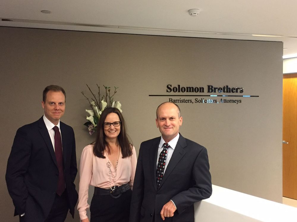 Solomon Brothers clock in as the 4000th firm to join PEXA. Left to right: Shannon Davies, Michelle Hawksley and Mark Blundell