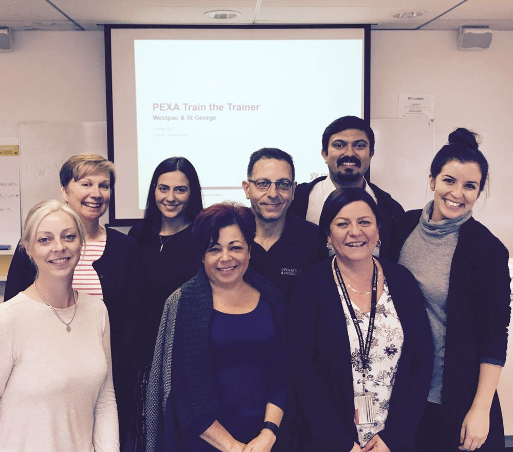 Kylie, Elaine, Dayala, Helen, Jim, Vijay, Jill from Westpac/St George with Jemma