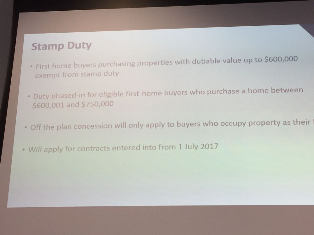 Reminder about new stamp duty concessions