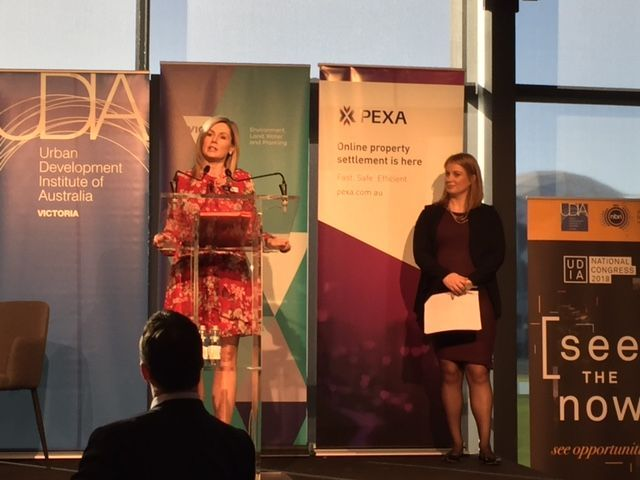 Lisa Dowie, Chief Customer Officer, PEXA (left), Danni Addison, CEO, UDIA Victoria (right)