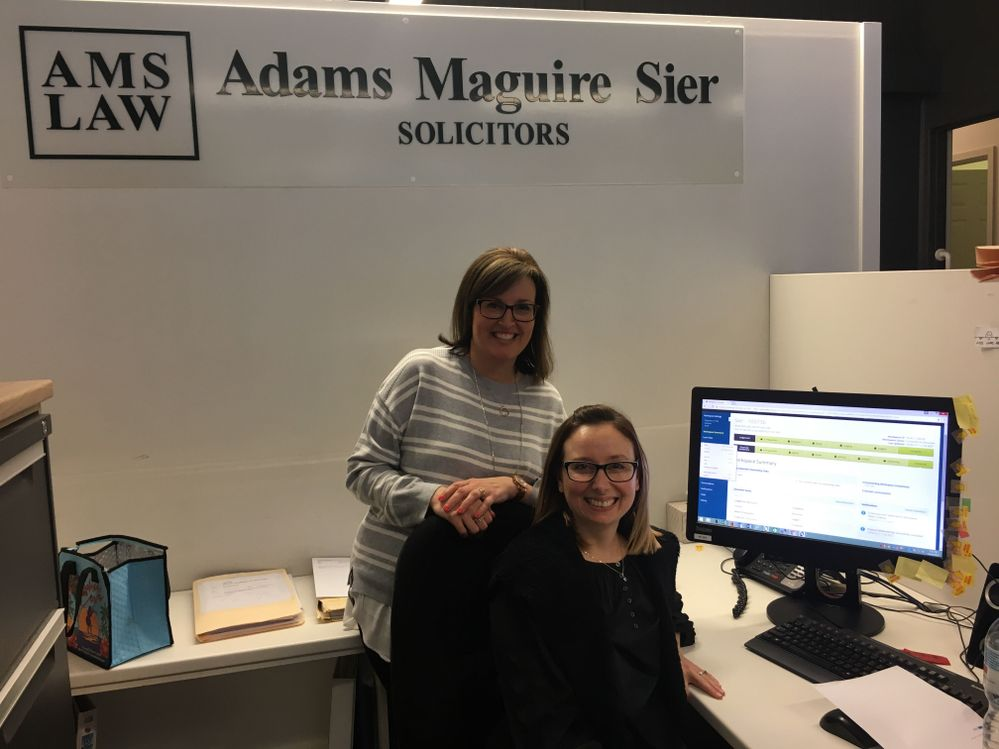Liz and Kathleen very excited on completion of their first PEXA settlement
