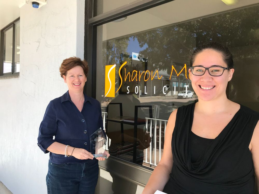 Kate &Vanessa at Sharon Moore Solicitors