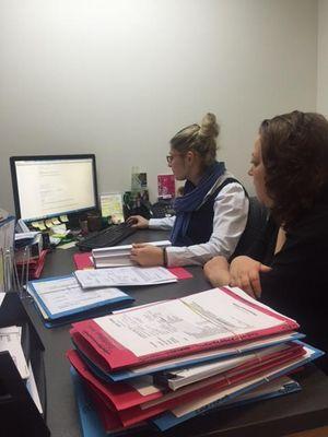 Sharon (PEXA) and Tash (DonnaFuchsConveyancing) smashing out PEXA workspaces