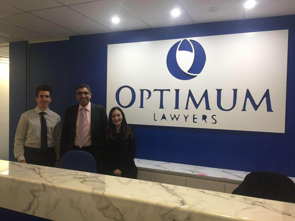 Danield Arnfield(PDS QLD), Wisam Assi, Principal, Optimum Lawyers,Parramatta, Josephine Leone (PDS NSW)