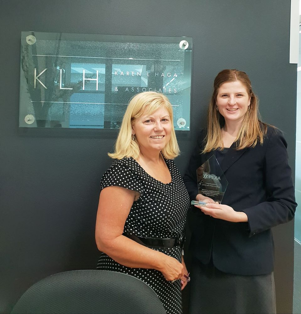 Karen Haga, principal of KLH Conveyancing and Judy Hogarth Licensed Conveyancer