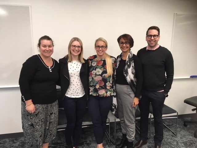 Kristy, Lindsay, Lauren, Meeta and Mark - our QLD PExperts!