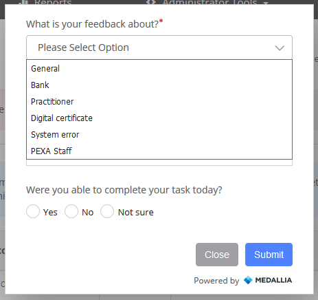Select Feedback option(s).