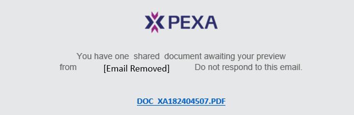 screenshot of phishing e-mail