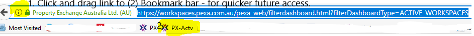 Click and drag link for quikcer access
