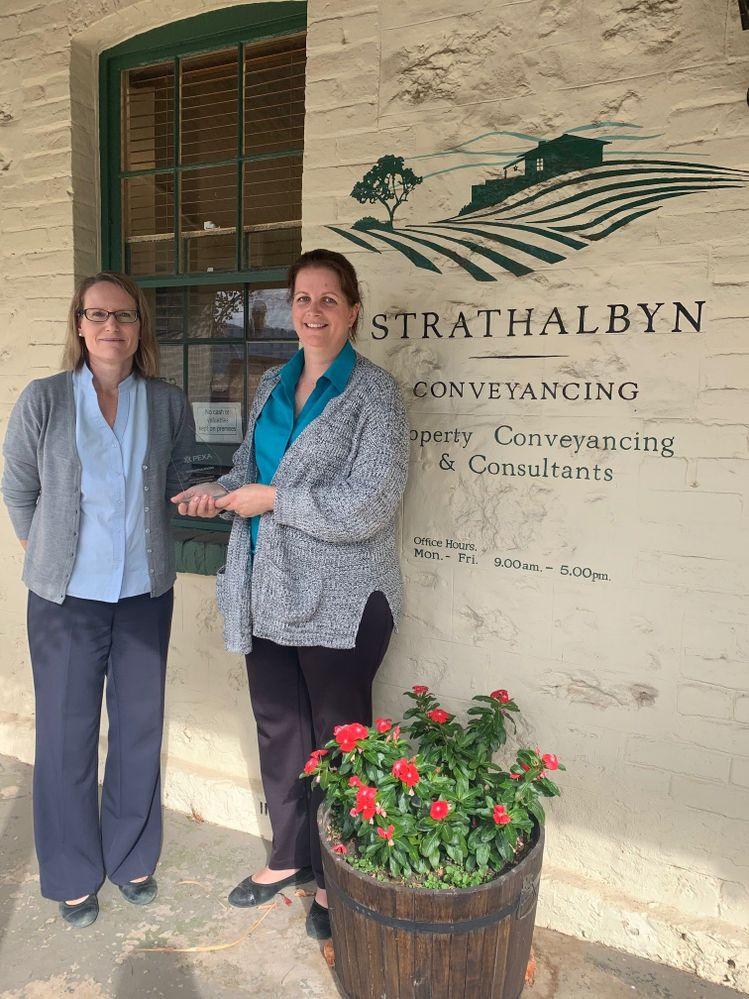 Karen & Nicole showing off their PEXA Certified Trophy