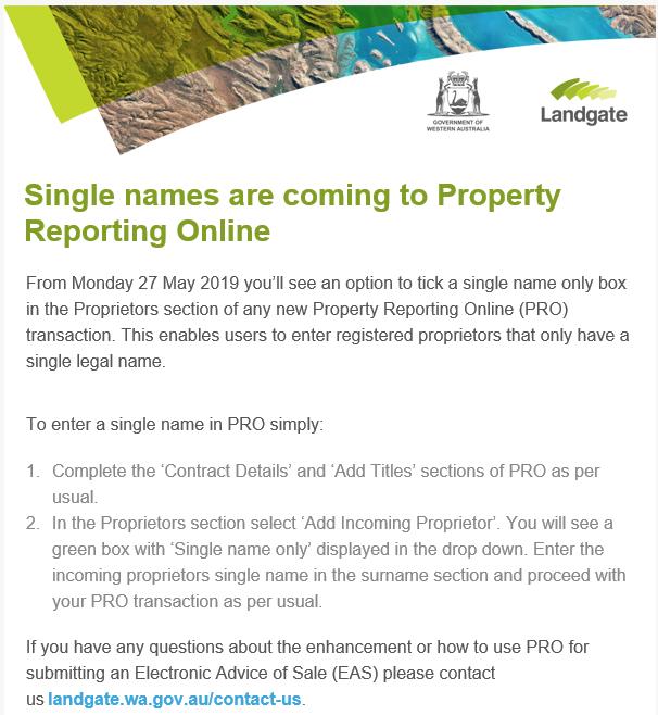from 27/5/19 single Proprietor name in PRO