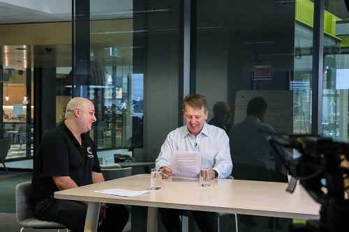 Jehiah Gusew (Cornwalls) and Marcus Price (PEXA CEO)