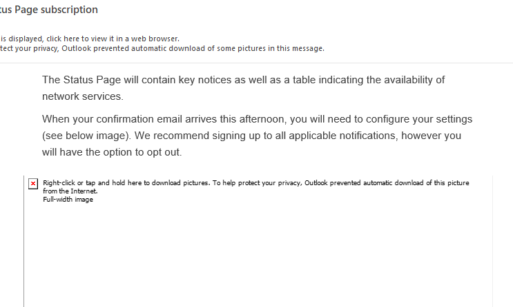 scary email preluding to long scary link
