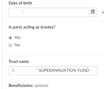 Don't use ATF per ROL summary , unless that is the name of the Trust entity as entered in ROL.