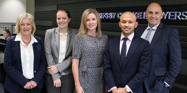 Rigby Cooke Lawyers team and Lisa Dowie (PEXA)